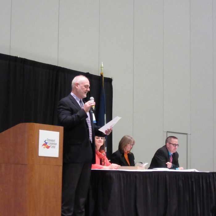 Transit planning and safety expert, JD Allen, presents at 2017 Louisiana Public Transit Conference